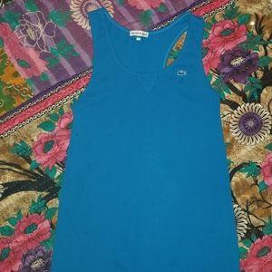 Lacoste blue racerback dress